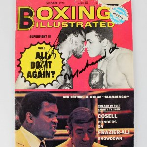 1975 Muhammad Ali & Joe Frazier Signed Boxing Illustrated Magazine - JSA