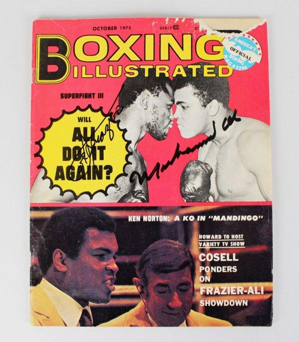 1975 Muhammad Ali & Joe Frazier Signed Boxing Illustrated Magazine