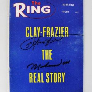 1970 Muhammad Ali & Joe Frazier Signed The Ring Magazine