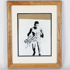 1973 Jack Dempsey Signed & Inscribed 8x10 Photo - JSA