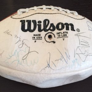 1984 L.A. RAIDERS TEAM SIGNED FOOTBALL (SUPER BOWL XVII CHAMPIONS!) With Ticket Stub to game!