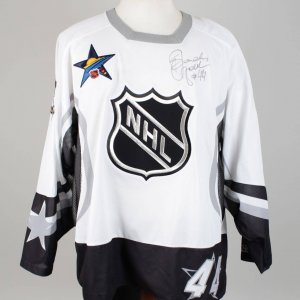 SANDIS OZOLINSH  Signed & Inscribed (#44) Anaheim Mighty Ducks CCM  NHL All Star Hockey Jersey