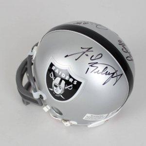Raiders Mini Helmet Signed By Otto, Guy, Branch, Biletnikoff & Stabler- COA PSA/DNA