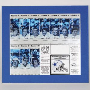 95 Cowboys Ring of Honor Inductees Multi-Signed Uncut Season Ticket Sheets (JSA)