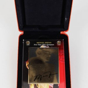 1997 UPPER DECK 24KT GOLD METAL MICHAEL JORDAN 5-TIME CHAMPION