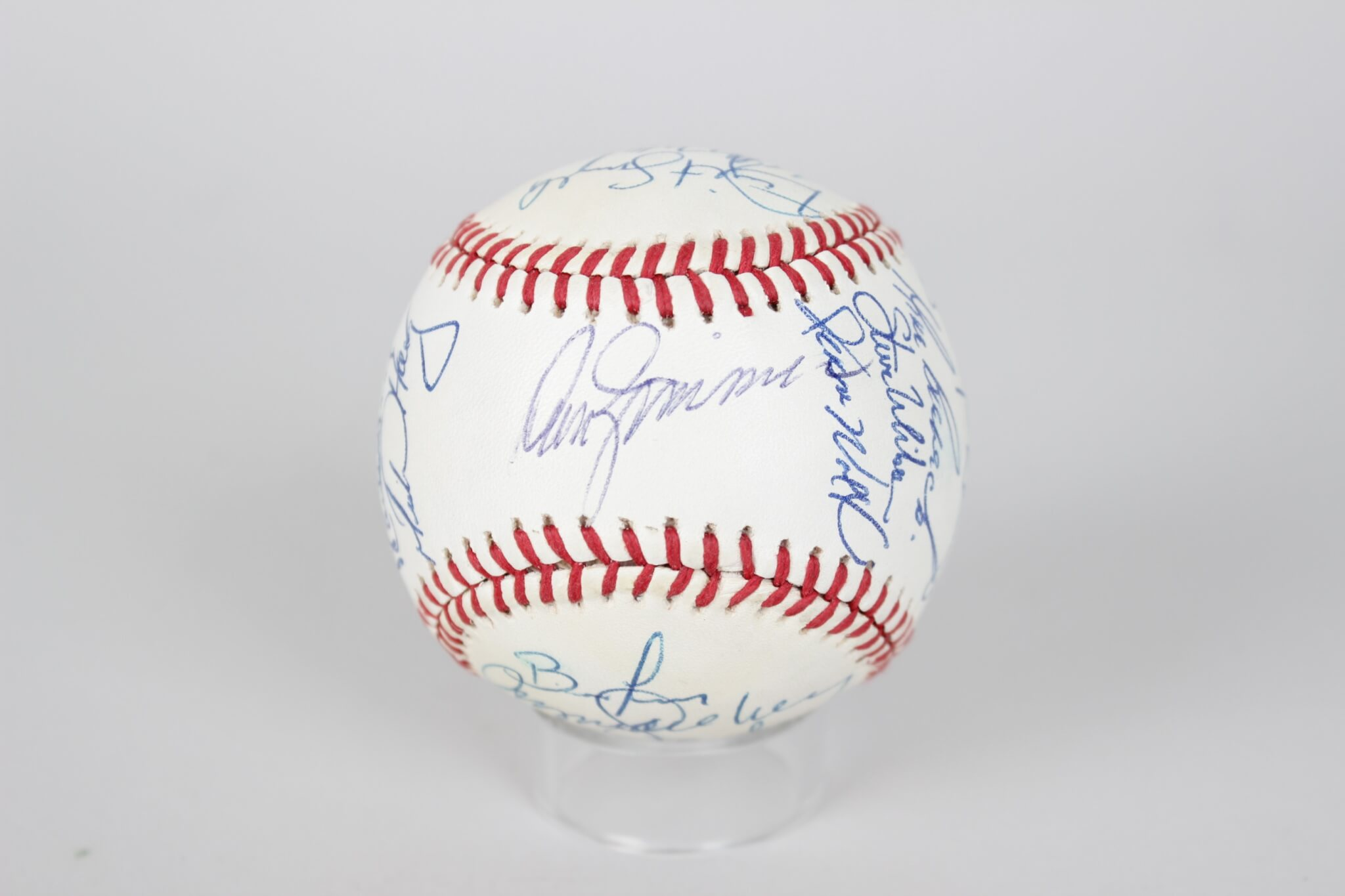 1990 Chicago Cubs Team Signed ONL (White) Baseball Don Zimmer, Greg Maddux, Andre Dawson