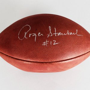 Dallas Cowboys - Roger Staubach Signed & Inscribed ( # 12 ) ONFL Night (Paul Tagliabue) Football