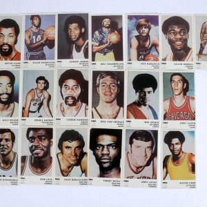 1972-73 Icee Bear - NBA Basketball Sports Cards Near-Complete Set 19/20 - Pete Maravich, Wilt Chamberlain, Walt Frazier, Jerry West et al.