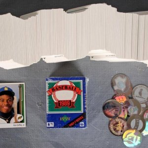 1989 Upper Deck Baseball Card Set with High Numbers Sealed Box Set (Main Set Features Ken Griffey, Jr. Rookie Card #1)