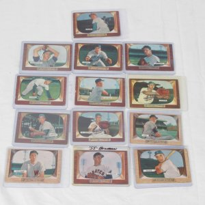 1955 Bowman Baseball 13 Card Common Set Builder Lot (All Different)