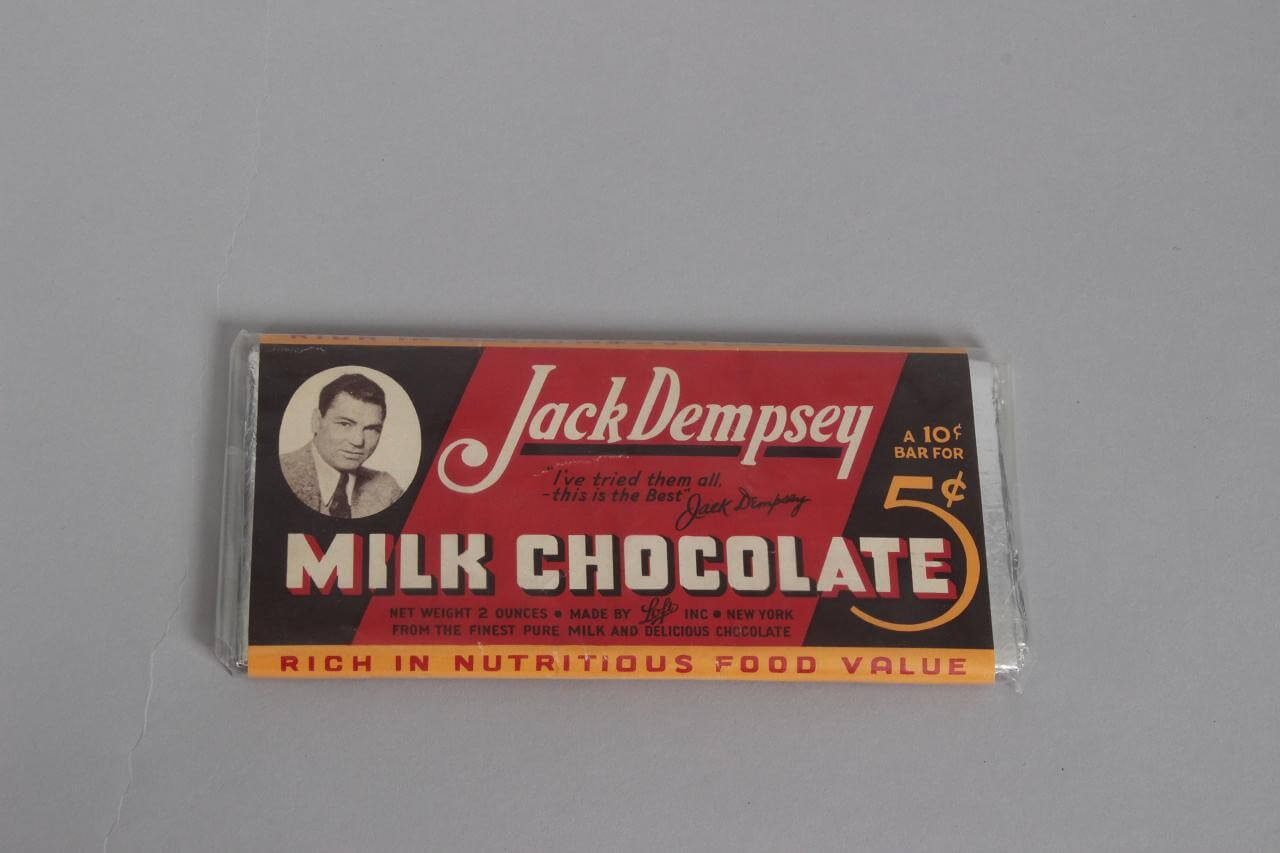 Rare 1920-30s Boxing Legend - Jack Dempsey Chocolate Wrapper