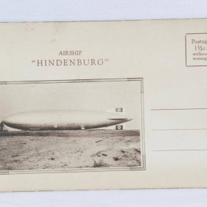 "Airship ""Hindenburg"" German Zeppelin Transport Co. Hindenburg Promo Specifications & Performance Booklet"