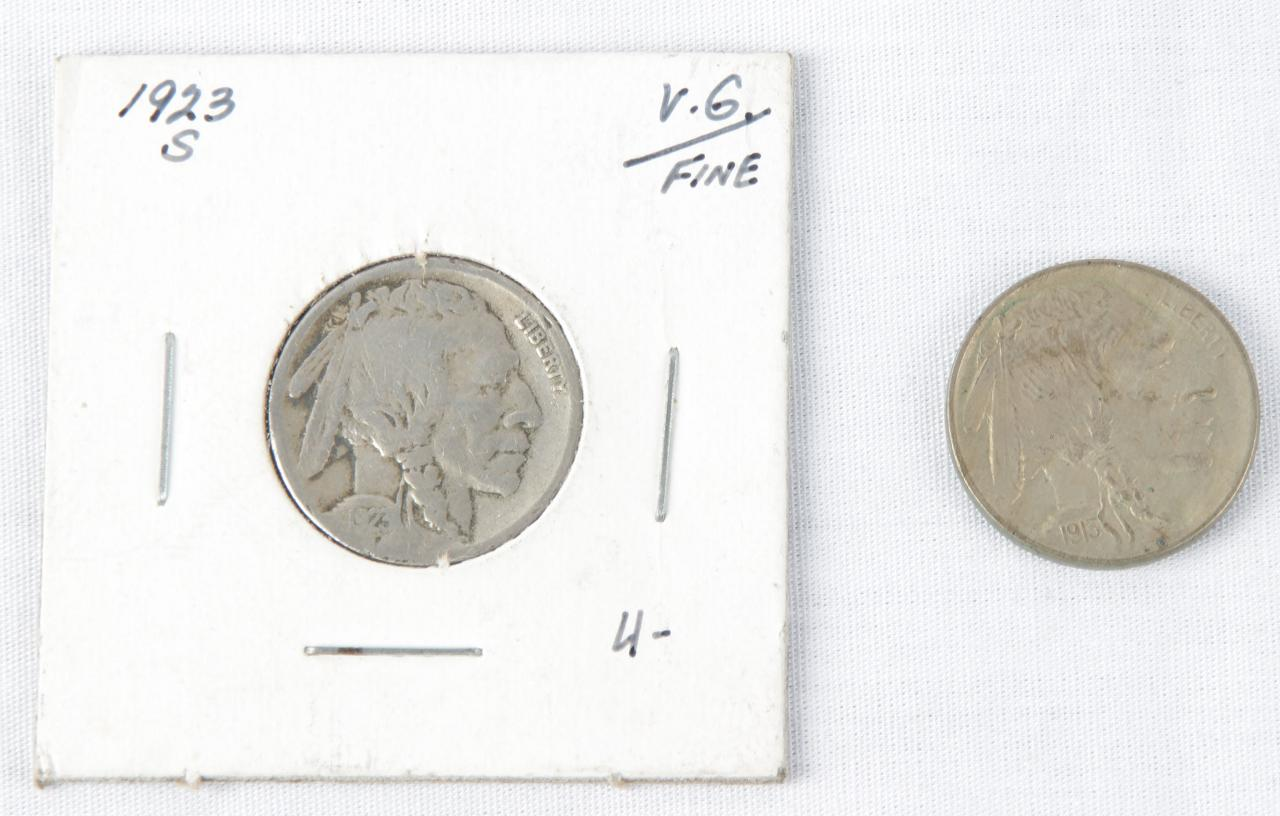 Pair of Buffalo Nickels – 5 Cents Coin – 1913 (Uncirculated) & 1923 (S)79553_01_lg