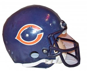 walter payton game worn helmet