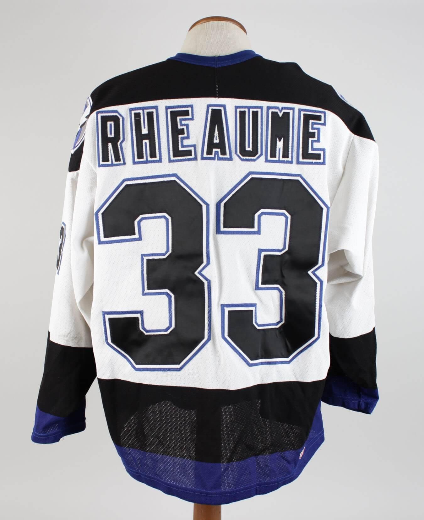 1992-93 Tampa Bay Lightning – Manon Rhéaume Jersey  0891cc1b7df