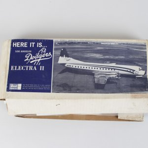 1963 Los Angeles Dodgers Electra II Revell Model Plane Kit #255 D