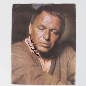 "Singer Frank Sinatra Signed 9 1/4"" x 11 1/2"" Color Photo - JSA Full LOA"