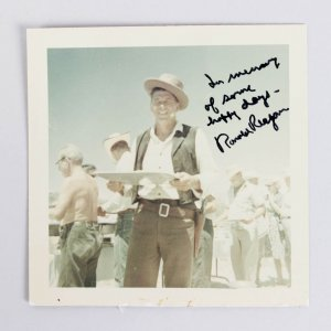 1965 Death Valley Days - President Ronald Reagan Signed & Inscribed Vintage Photo (JSA Full LOA)