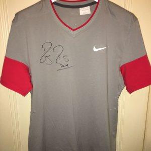 2014 French Open Grand Slam Roger Federer Match Worn Signed 2014 Roland Garros Jersey COA Federer