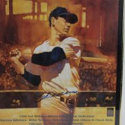 1996 Boston Red Sox - Ted Williams Hall Of Fame Hitters Dedication 18x24 Poster Signed By Ted Williams (Green Diamond COA)