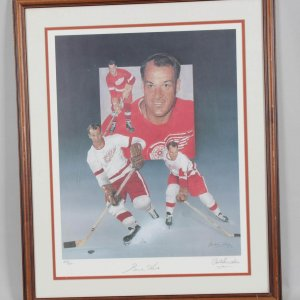 Detroit Red Wings Gordie Howe Signed Christopher Palusso Print LE 123/500 - COA