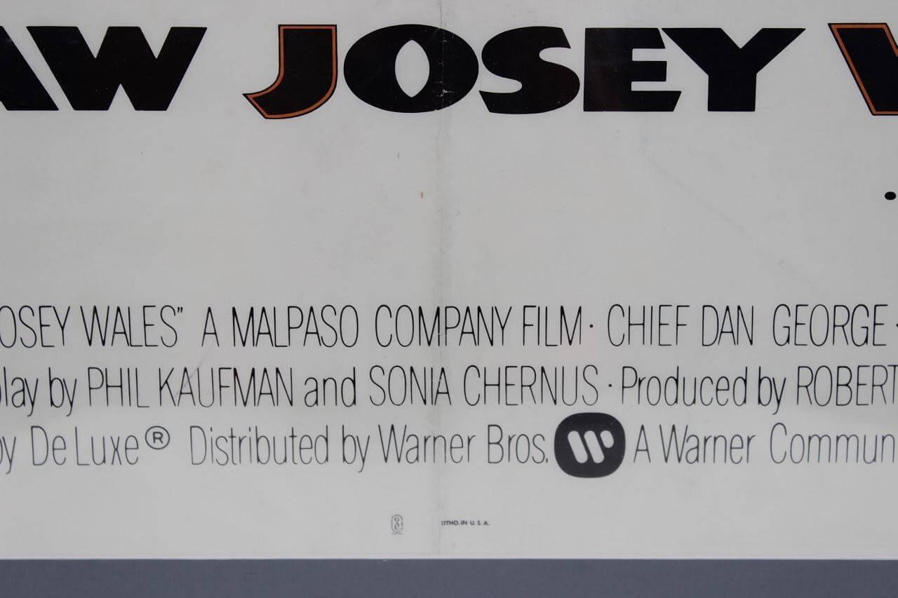 1976 Outlaw Josey Wales Original One Sheet Western Movie Poster 34×47 |  Memorabilia Expert