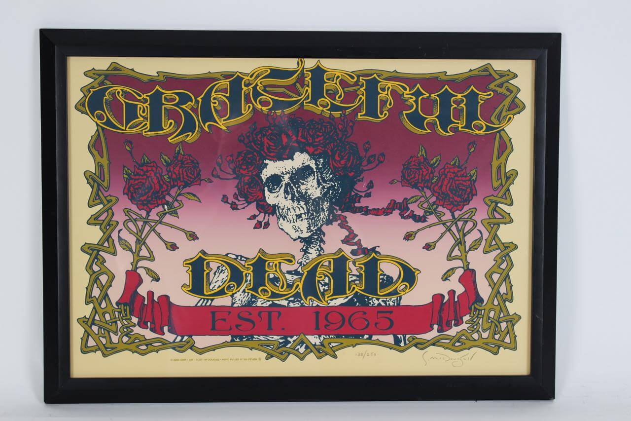 2005 Grateful Dead Est. 1965 (40th Anniversary) Poster Signed by Artist Scott McDougall 17x24 Display LE 138/250