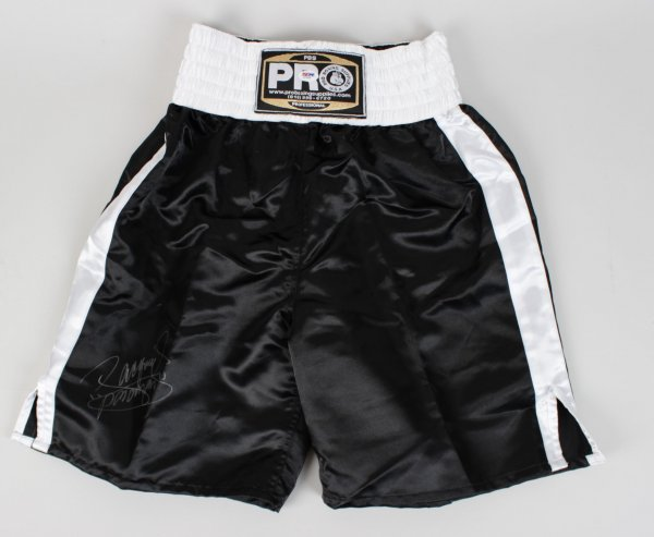 Manny Pacquiao Signed Pro Boxing Trunks (PSA)