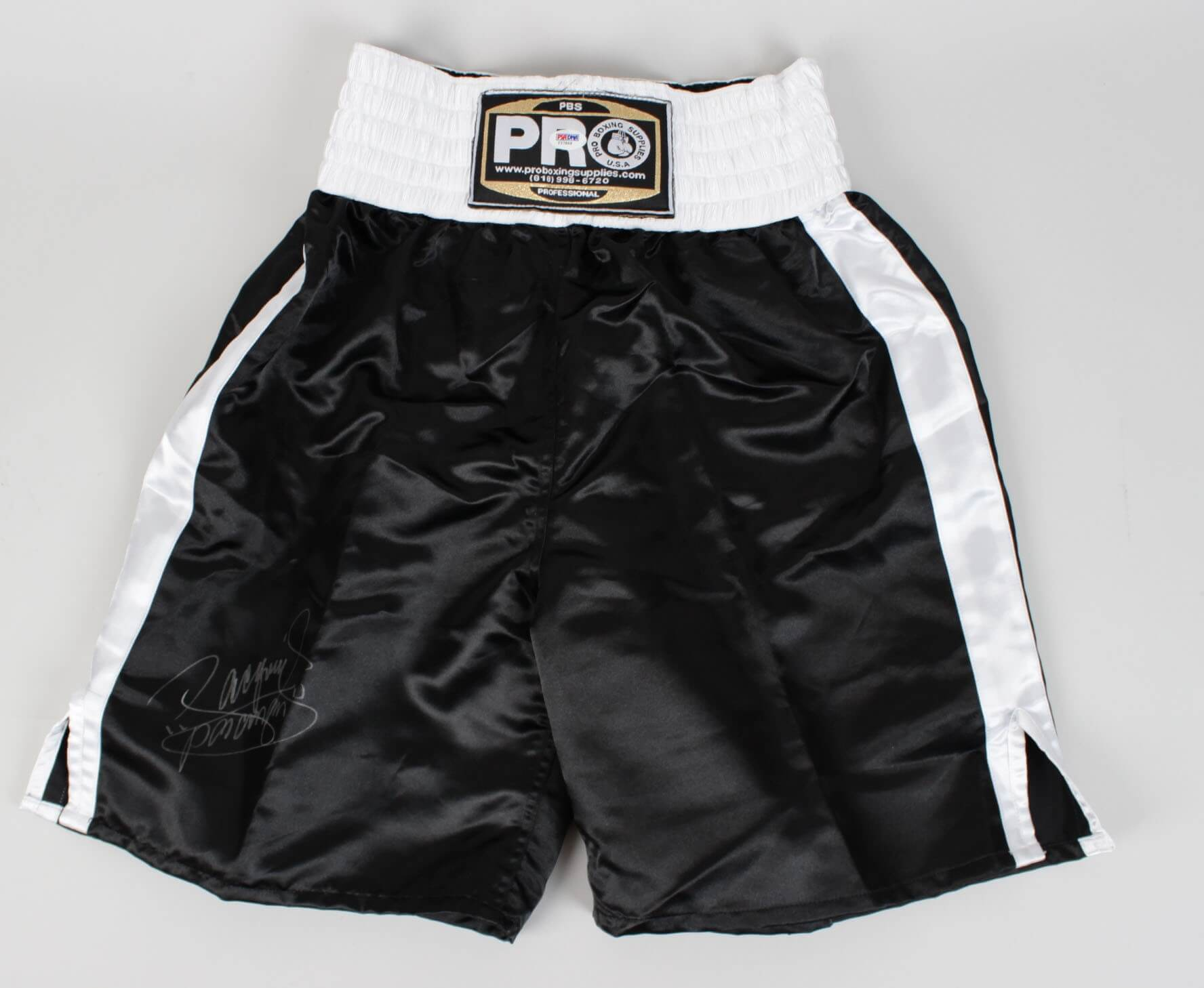 Manny Pacquiao Signed  Pro Boxing  Trunks (PSA)86210_01