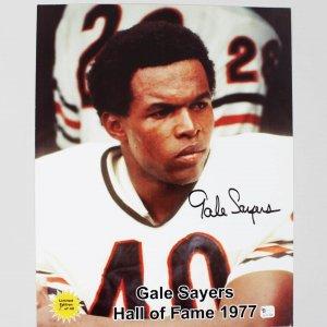 Bears - Gale Sayers Signed 11x14 Color Photo HOF 1977 LE 5/40 - COA GAI & JSA