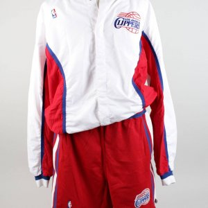 "92-93 Los Angeles Clippers ""Terry"" Dehere Game Champion Warm Up Jacket & Trunks"
