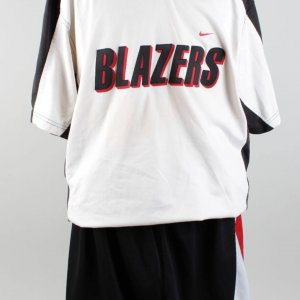 1997-98 Portland Trail Blazers Isaiah Rider Game Warm Up Nike Top & Trunks