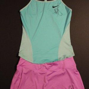 A Maria Sharapova Game-Used & Signed Custom Nike Tennis Outfit.  2015 WTA Sony Ericsson Open Miami.