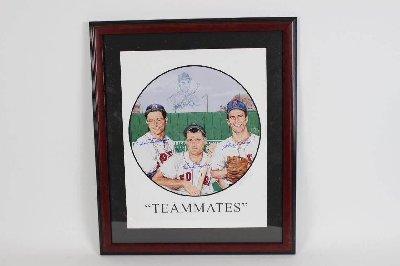 Boston Red Sox Multi-Signed Print LE 7/100 - COA
