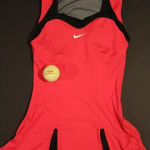 A Serena Williams Game-Used Custom Nike Tennis Dress.  2011 US Open.  Includes Match Ball.