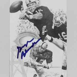 Oakland Raiders - George Blanda Signed 3x5 Post Card - JSA