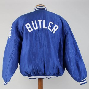 1991 -94 L A Dodgers Brett Butler Game Warm Up Starter Jacket