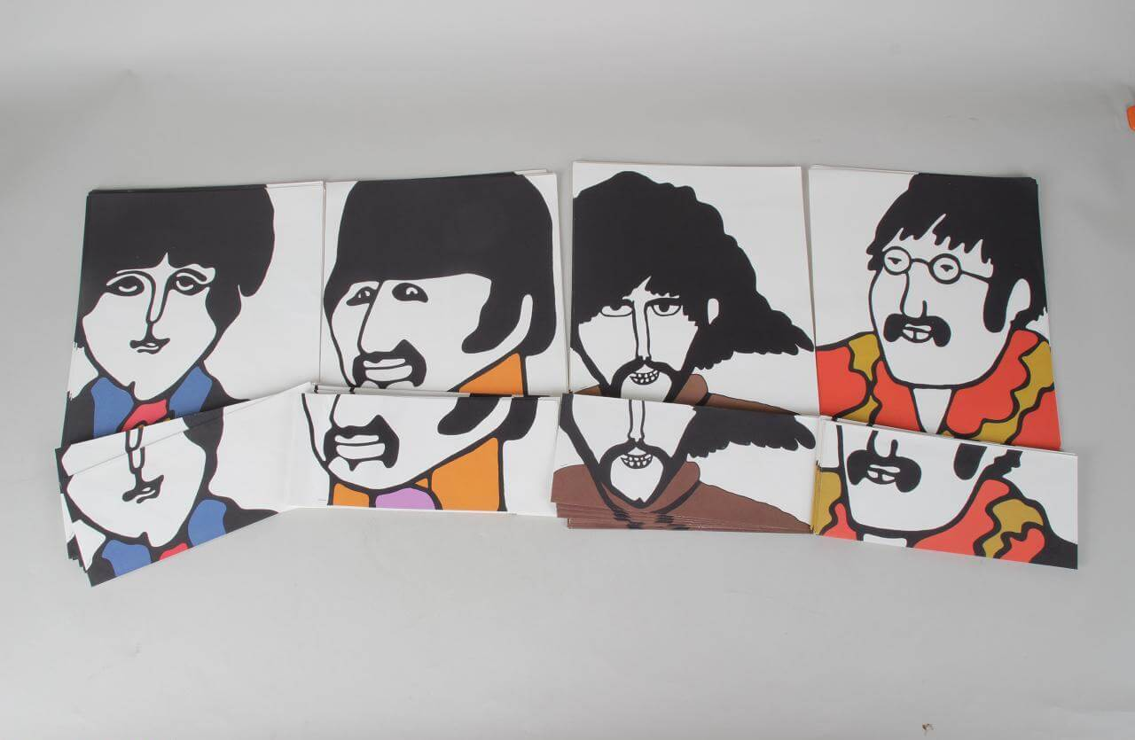 1968 THE BEATLES - YELLOW ONE SUBMARINE STATIONARY SETS (Southeby's Collection)