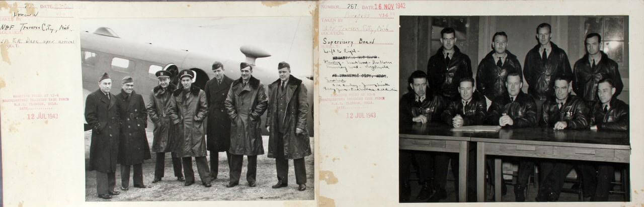 1942 WWII VJ-6 Photos - Incl. Arrival of Officers & Supervisory Board