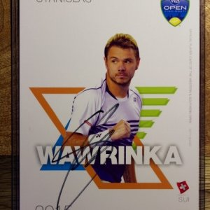 A Stan Wawrinka Signed Official Tournament Postcard.  2015 ATP Western & Southern Open.