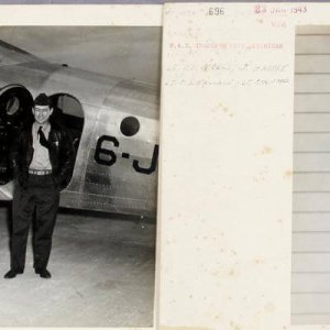 1943 WWII VJ-6 Photos - Incl. Arrival feat. Commodore Bond & Navy Lieutenants