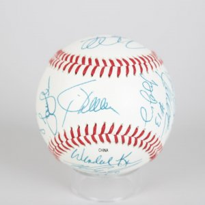 1999 Boston Red Sox Team-Signed OIL Baseball Jason Varitek, John Valentin, Mike Stanley