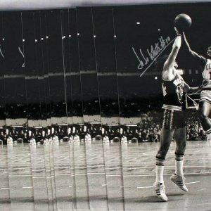 Boston Celtics - Jo Jo White Autographed 16x21 B&W Poster - COA