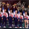 1996 Women's Olympic Gymnastics Team Autographed by DOMINIQUE MOCEANU and 5 others.