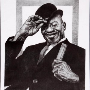Sonny Boy Williamson Charcoal Artwork by Pittsburgh Artist George Gist From The Original Teenie Harris Photo LE 8/500