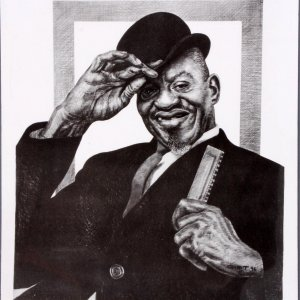 Sonny Boy Williamson Charcoal Artwork by Pittsburgh Artist George Gist From The Original Teenie Harris Photo LE 9/500