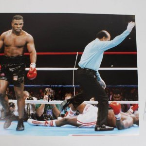 Boxing Great - Mike Tyson Signed 16x20 Photo - COA GAI