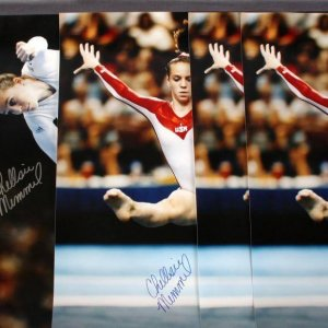 Chellsie Memmel Signed 16x20 Color Action Posters Olympic - COA PSA/DNA