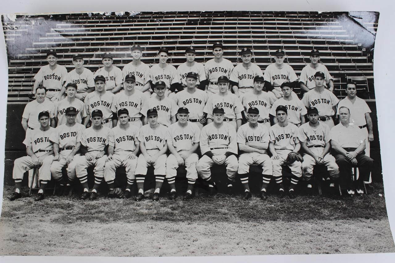 1947 Boston Red Sox Team Photo Vintage