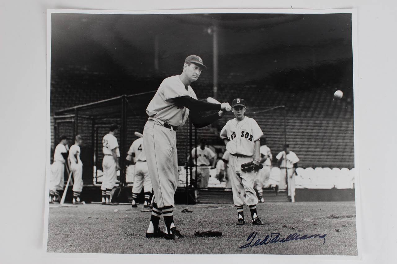 Ted Williams Signed Photo Red Sox - COA JSA